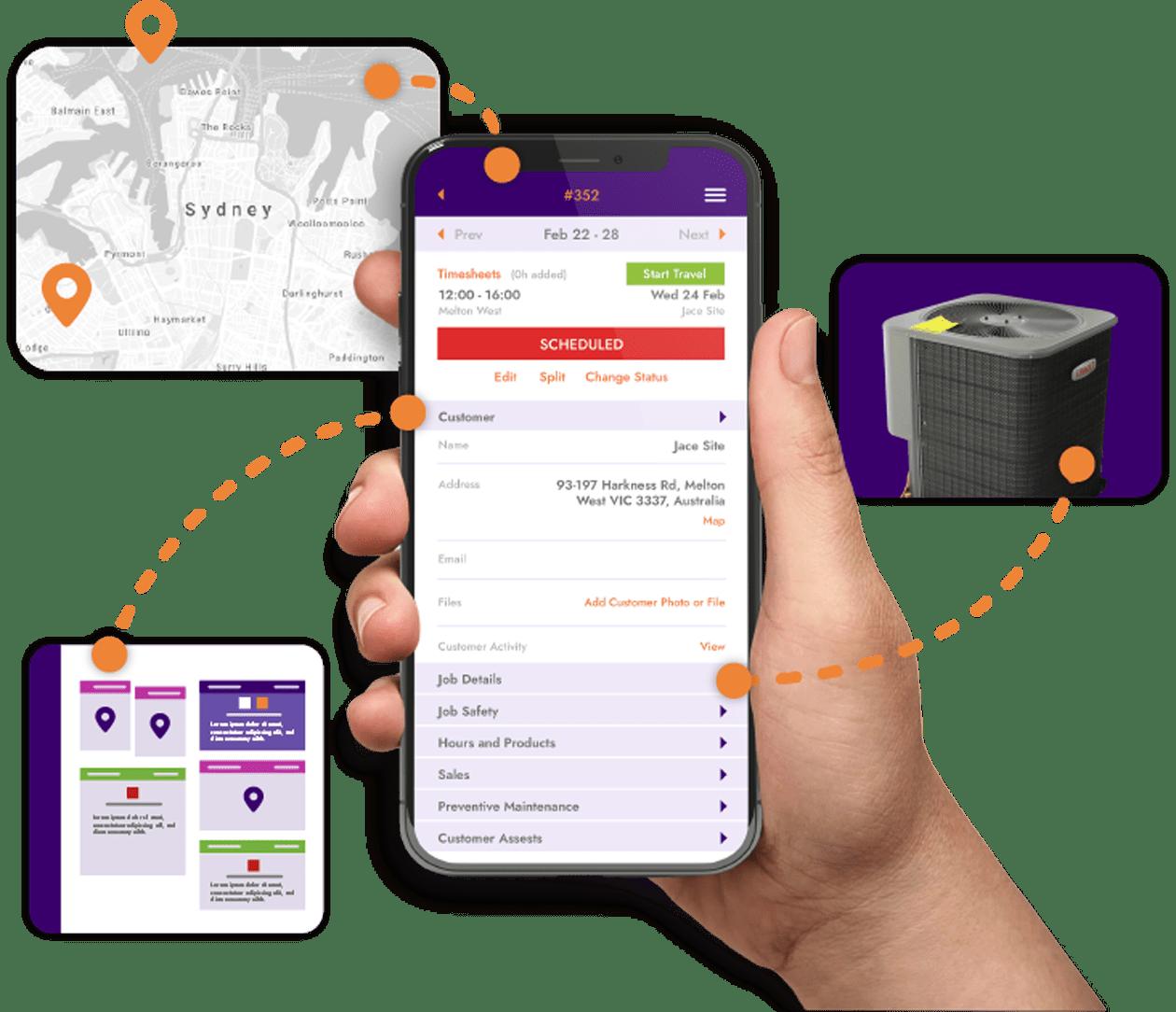 FieldInsight Job Management Software Mobile User